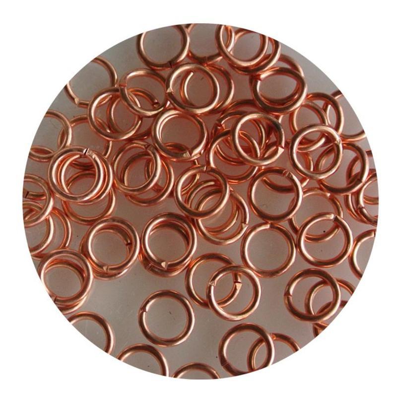 Aanbuigringetjes. 5mm. Kupferfarben. Beutel mit 100 Stück für