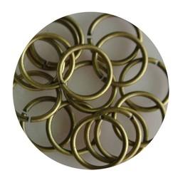 Aanbuigringetjes. 12mm. Bronze. Beutel mit 10 Stück für