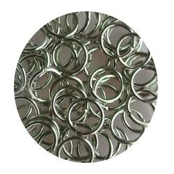Aanbuigringetjes. 8mm. Silber. Beutel mit 100 Stück für
