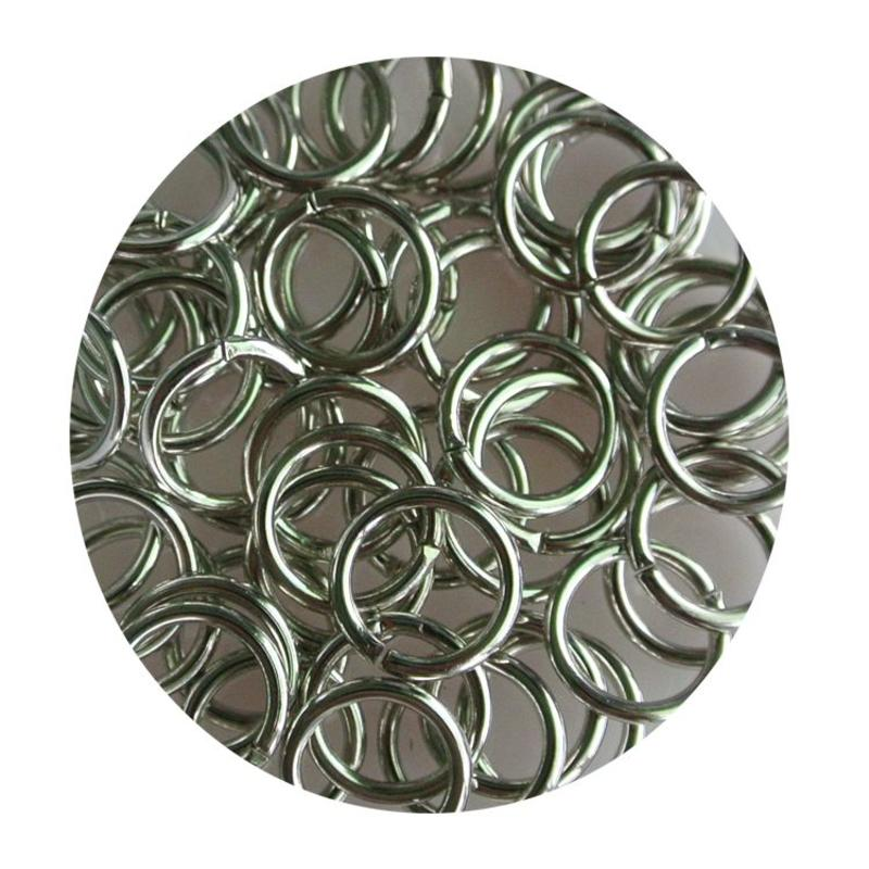 Aanbuigringetjes. 8mm. Silver. bag of 100 pieces for