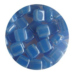 2-Loch-Platz Beads 6x6mm. Light Blue Opal