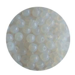 White Opal Glaskraal 4mm Rond 100 stuks voor