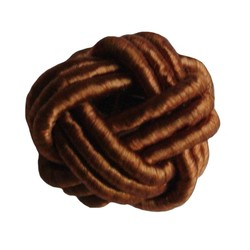 Bead Button brown satin strap 18mm
