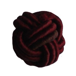 Bead-Knopf bordeaux Satinband 18mm