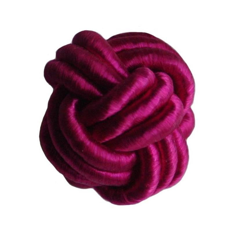 Bead Chinese knot of pink satin cord 18mm