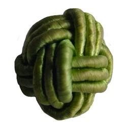 Bead-Knopf grünen Satin Cord 18mm