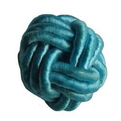 Kraal Knoop van blauw Satijnkoord 18mm