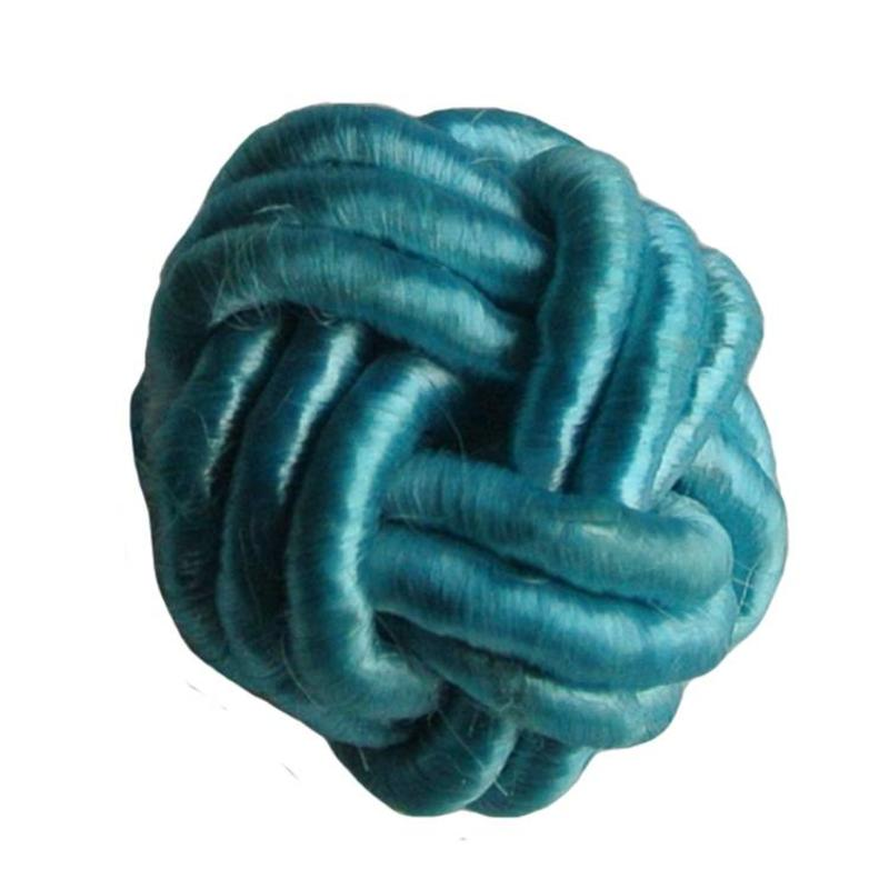 Bead Chinese knot of blue satin cord 18mm