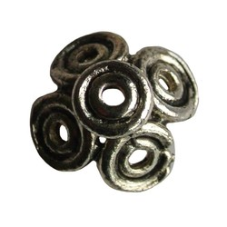 Kraalkap umkreist 15mm. Silberfarben