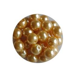 Glass Bead golden 6mm 100 pcs