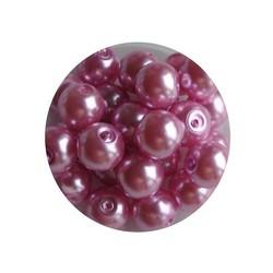 Glasparel roze 6mm 100 stuks