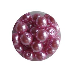 Glass Pearl 6mm pink 100 pieces