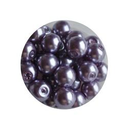 Glass Pearl 6mm purple 100 pcs