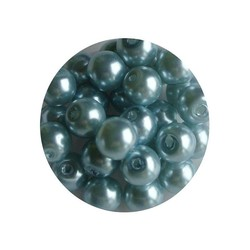 Glasparel lichtblauw 6mm 100 stuks