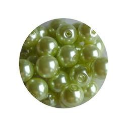 Glasperlen 6mm hellgrün 100 Stück