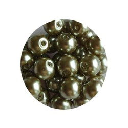 Glass pearl olivine 6 mm 100 pieces