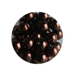 Glasparel donkerbruin 6mm 100 stuks