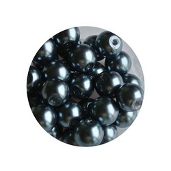 Glasparel blauwgrijs 6mm 100 stuks
