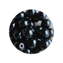 Glasperlen 6mm antracite 100 Stück