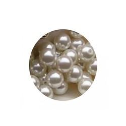 Glass Pearl White 6mm 100 pcs
