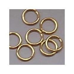 Aanbuigringetjes. 6 mm. Gold. 50 Stück für
