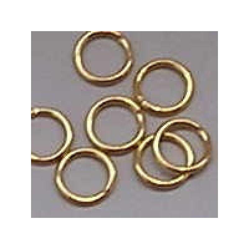 Aanbuigringetjes. 6mm. Gold. 50 pieces for