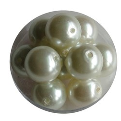 Glass Pearl White 12mm