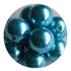 Glass Pearl 12mm Indicolite
