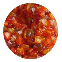 Pinch Bead. 3x5mm. Crystal Orange