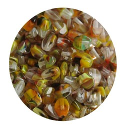 Pinch Bead. 3x5mm. Crystal Herfstkleuren