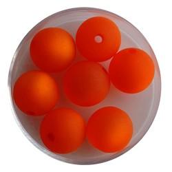 Polariskraal Oranje Mat 12mm. Rond.