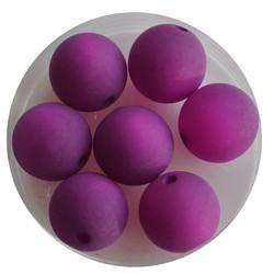 Polaris bead 12mm Purple Mat. Around.