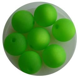 Polariskraal Groen Mat 12mm. Rond.
