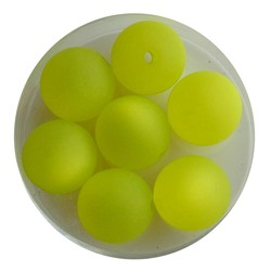 Polaris Bead Kiwi Green Mat 12mm. Around.