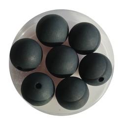 Polariskraal Zwart Mat 12mm. Rond.