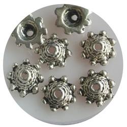 Kornkappe 10mm bearbeitet. Silberfarben