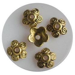 Bead Cap 10mm circles. Gold-colored