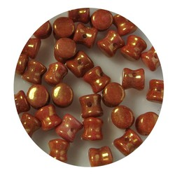 Pelletbead Orange Luster. 4x6mm. Czech Per 10 pieces for
