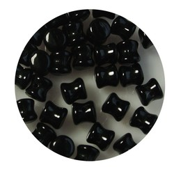 Pelletbead Jet. 4x6mm. Czech Per 10 pieces for