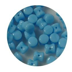 Pelletbead Lichtblauw. 4x6mm. Tsjechisch Per 10 stuks voor