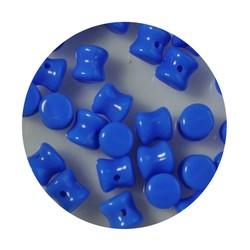 Pelletbead Hemelblauw 4x6mm. Tsjechisch Per 10 stuks voor