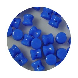 Pelletbead Sky Blue 4x6mm. Czech Per 10 pieces for
