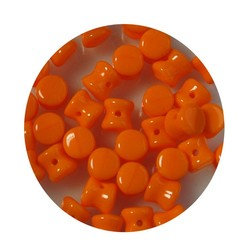 Pelletbead Orange 4x6mm. Czech Per 10 pieces for
