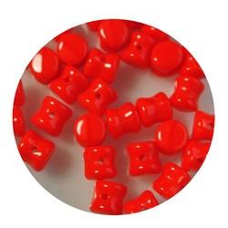 Pelletbead Rood 4x6mm. Tsjechisch Per 10 stuks voor