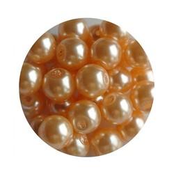 Glasperlen 6mm abricot 100 Stück