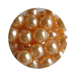 Glass Pearl 6mm abricot 100 pieces