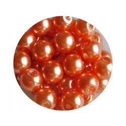 Glasparel orange 6mm 100 stuks