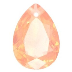 Facetgelepen druppelvormige hanger 18x25mm Peach Opal