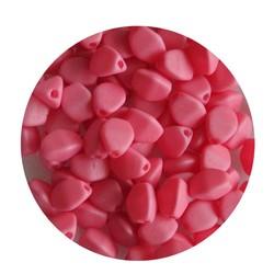 Pinch Bead. 3x5mm. Pastel Pink Mat