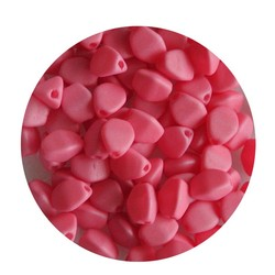 Pinch Bead. 3x5mm. Pastel Roze Mat